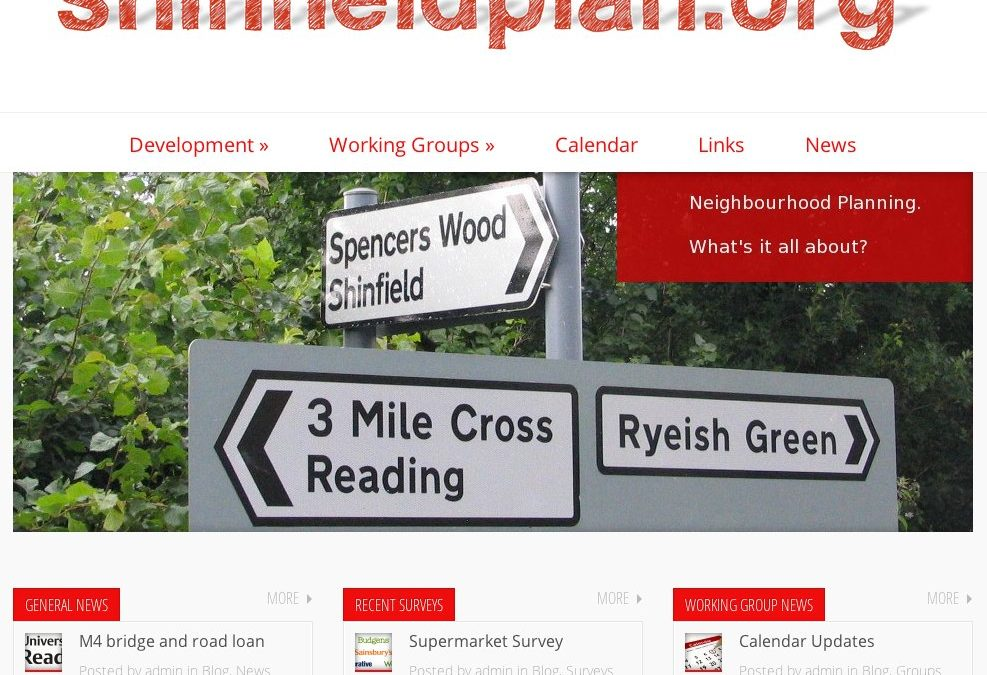 New Shinfield Plan Website Launched