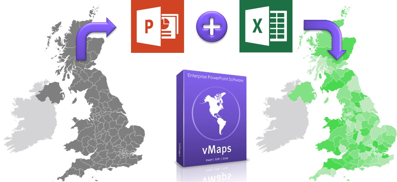 Editable maps and heat maps for PowerPoint  YOUpresent
