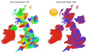 vMaps new color scale mode