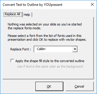text-to-outline for PowerPoint - replace all fonts