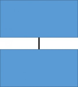 two rectangles with an unconnected line between them