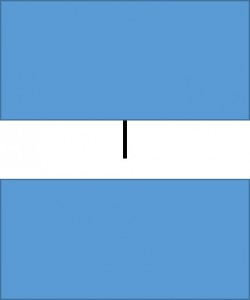 move one rectangle and the line stays where it is