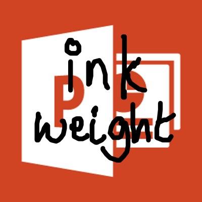 Pen Ink Weight in PowerPoint Slide Show