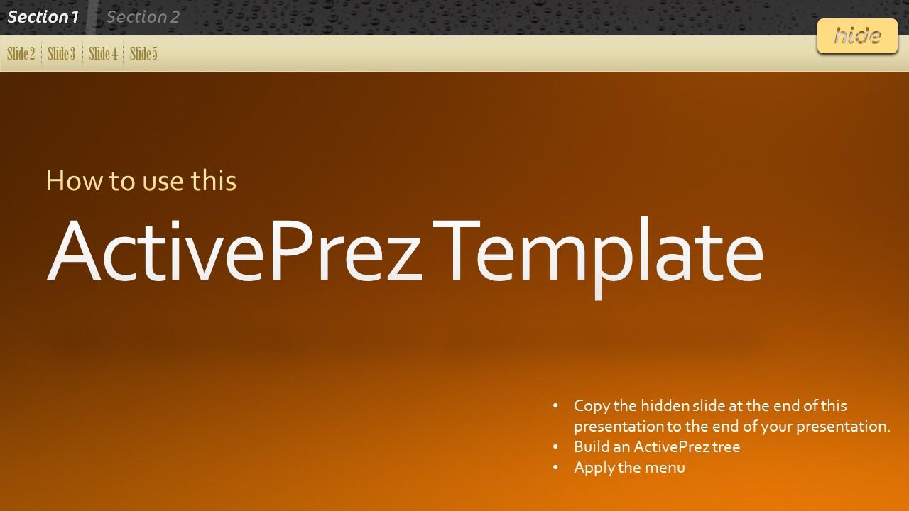 ActivePrez Menu Template - Pictures