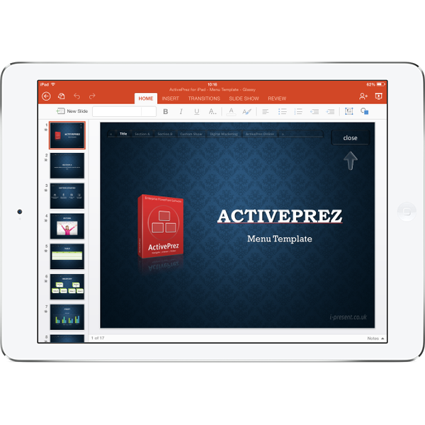 iPad + PowerPoint + ActivePrez