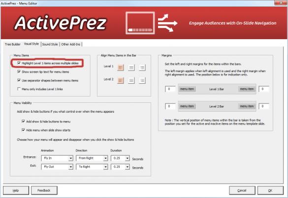 ActivePrez Highlight Level 1 Across Multiple Slides