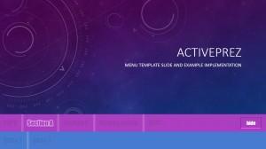 ActivePrez Menu Template - Glow & Emboss