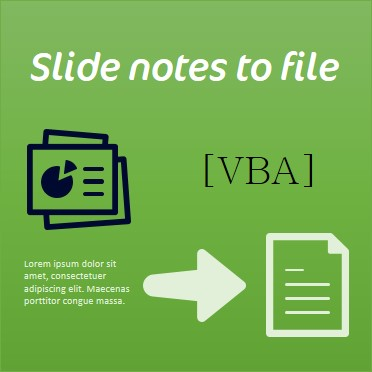 Slide Notes to text file with VBA