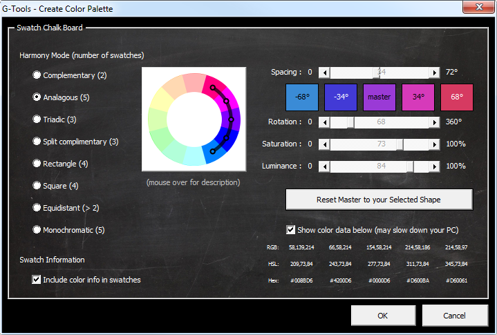 G-Tools for PowerPoint - Create Color Palette