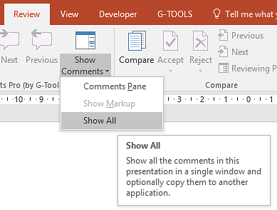 G-Tools Show All Comments