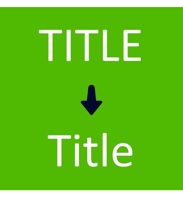 PowerPoint VBA Macro : Sentence Case Titles
