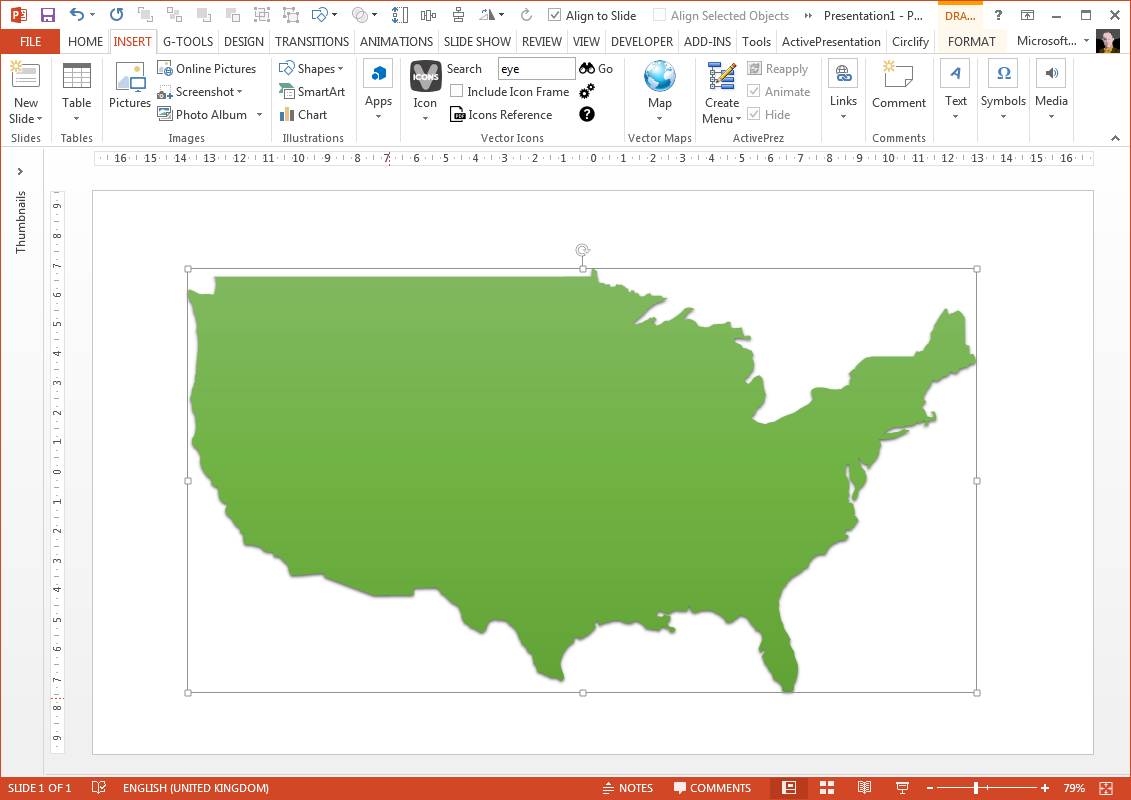 Area Of A PowerPoint Freeform Shape With VBA YOUpresent - Usa map shape