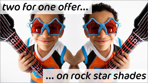 Child rock star - finished PowerPoint slide