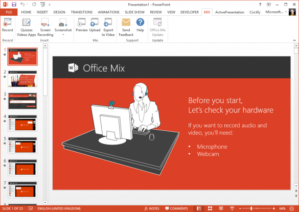 Office Mix for PowerPoint - Getting Started