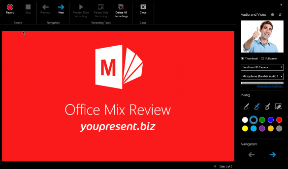 Office Mix for PowerPoint - Record