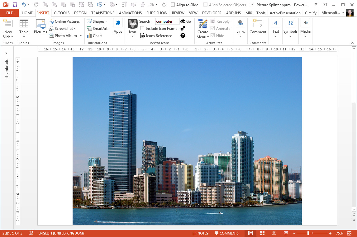 Quartering Pictures In PowerPoint With A Macro