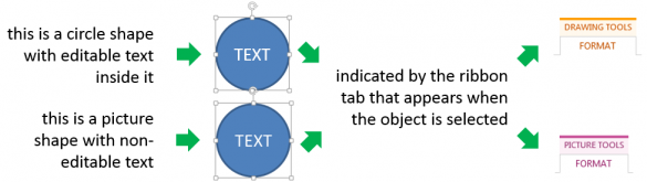 Shape Types in PowerPoint ribbon