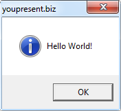 VBA Macro - Hello World