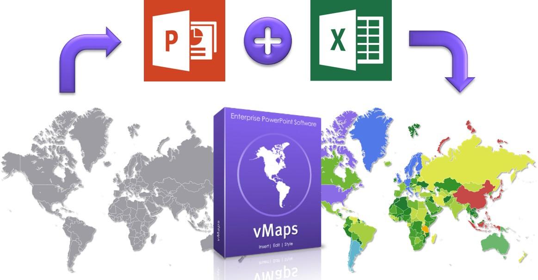 vMaps for PowerPoint - World Heatmap
