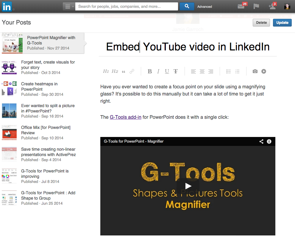 Embed Youtube Video Into Linkedin Posts Youpresent