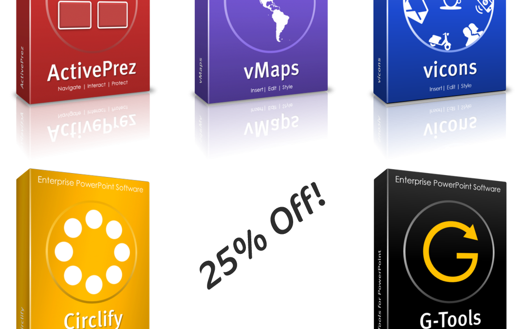 Get 25% off PowerPoint add-ins in December