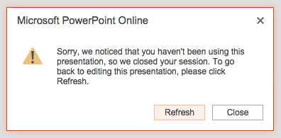Protected PowerPoint Online