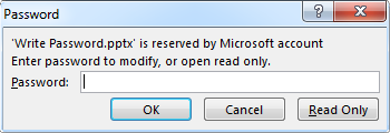PowerPoint Read Only message