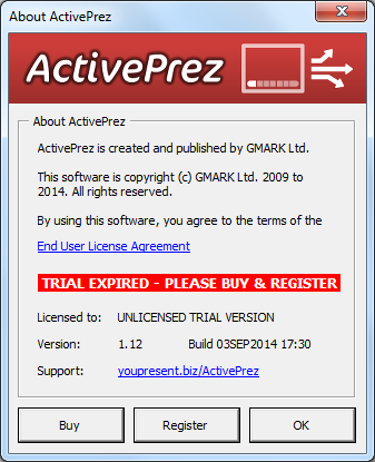 ActivePrez for PowerPoint - About and License