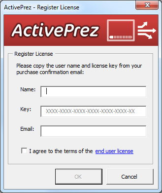 ActivePrez for PowerPoint - RegisterLicense