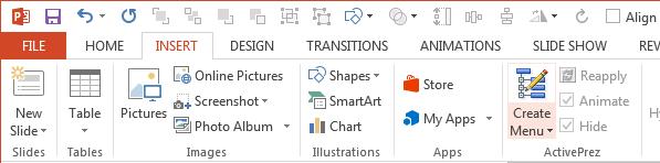ActivePrez for PowerPoint screenshot - Ribbon Button 2