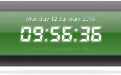Free PowerPoint Digital Clock