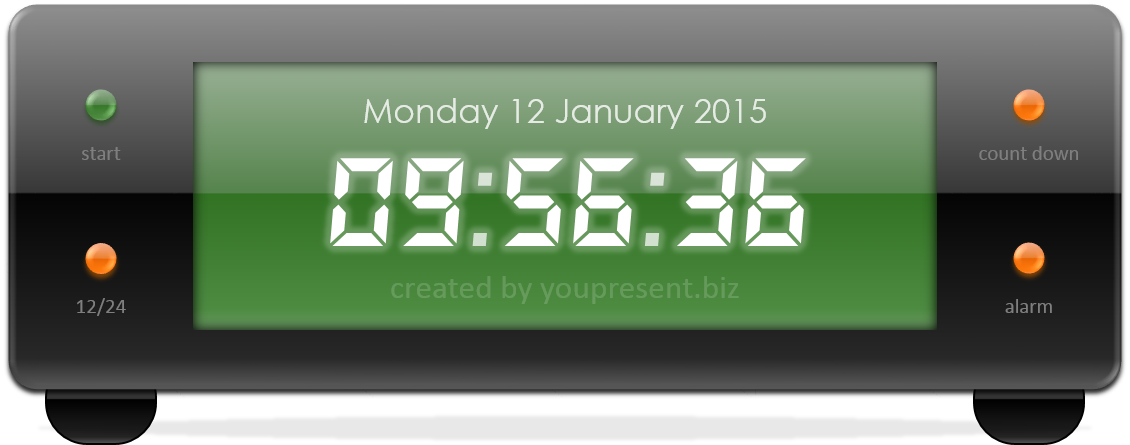 Free PowerPoint Digital Clock, Alarm & Countdown - YOUpresent: youpresent.co.uk/free-stuff/free-powerpoint-digital-clock