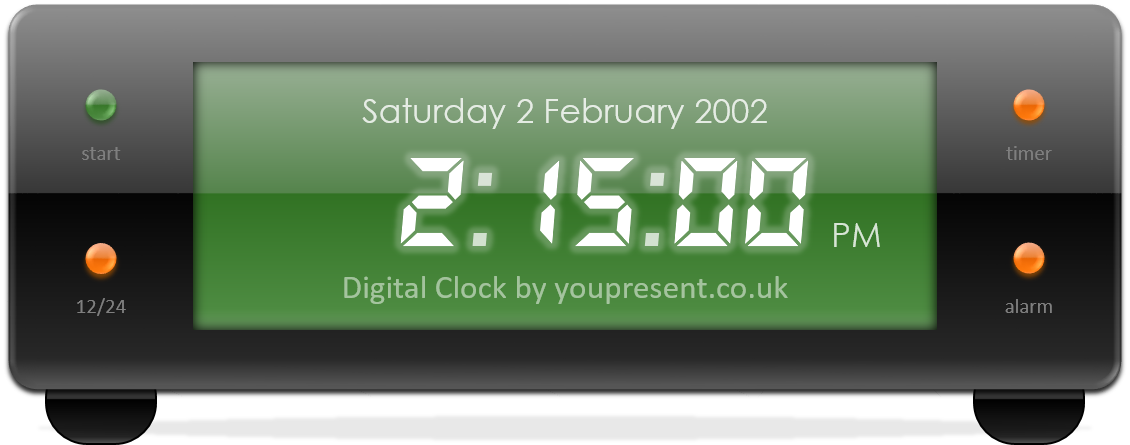 Digital Clock by youpresent.co.uk