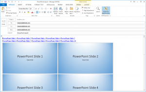 PowerPoint to Outlook - Email
