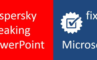 PowerPoint & Kaspersky Crash is Fixed