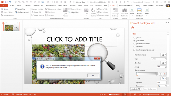 PowerPoint Magnifier Tool - Inserted