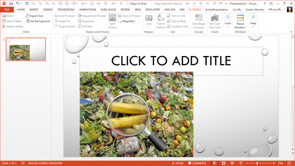 PowerPoint Magnifier Tool - Magnified by 300 percent