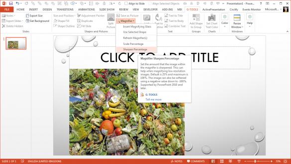 PowerPoint Magnifier Tool - Sharpen