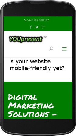 youpresent.co.uk is mobile friendly