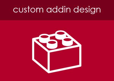 Custom Addin Design