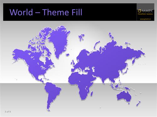 powerpoint world map editable