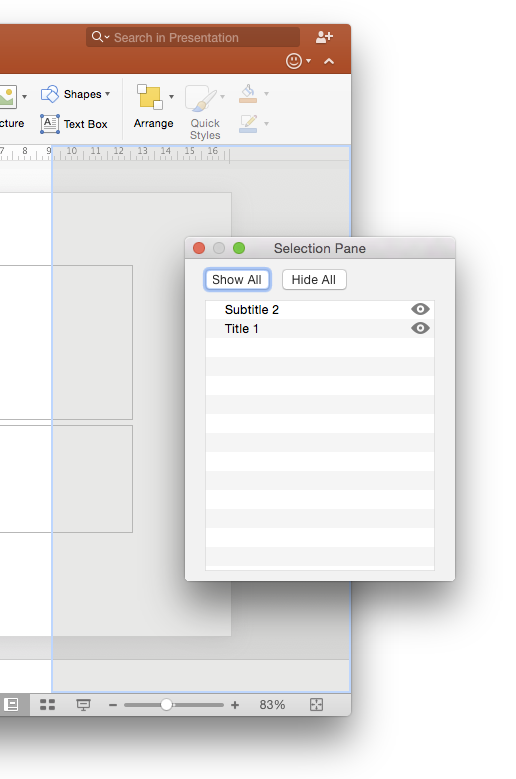 PowerPoint Selection Pane back for #Mac | YOUpresent