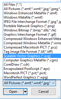 PowerPoint Insert Picture SVG file type