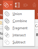 PowerPoint Merge Shapes tools