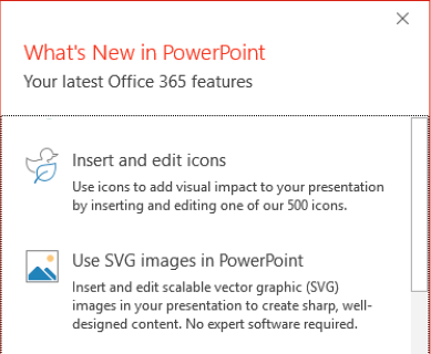 PowerPoint Introduces SVG and new Icons media type