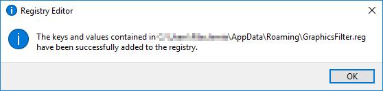 Registry Editor done