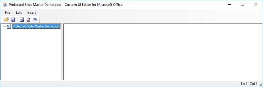CustomUI Editor - file open