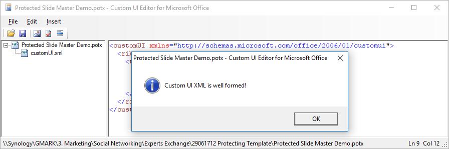 CustomUI Editor - validated