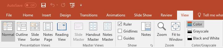 Master Views - Slide Master disabled