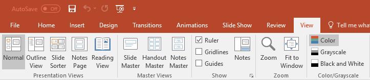 Master Views - Slide Master normal